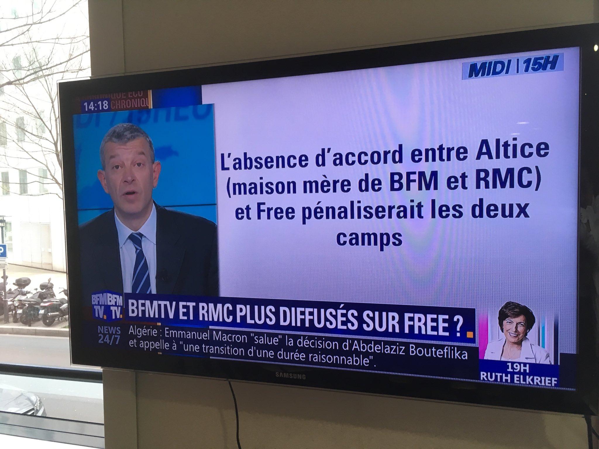 Selon Les Journalistes De Bfm Tv L Arret De La Chaine Chez Free